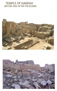 TEMPLE OF NAKRAH, BEFORE AND  AFTER THE BOMBS